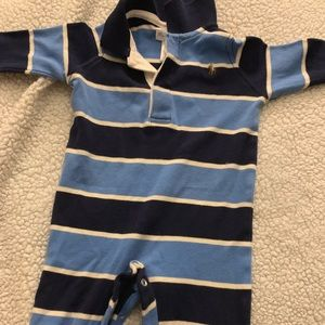 Ralph Lauren one piece striped button up
